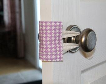 Nursery door latch cover, nursery door silencer, new baby gift, baby door silencer, latchy catchy, baby nursery decor