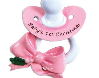 Baby Girl Baby's 1st Christmas Personalized Christmas Ornament