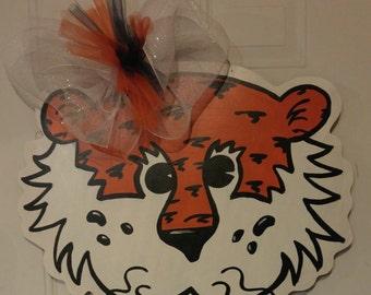 Auburn Aubie Tiger Door Hanger