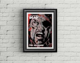 The Walking Dead 'The Governor' Comic Poster Print