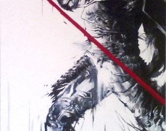 On Guard - Impressed on Canvas