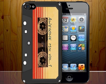 Guardians Of Galaxy Awesome Volume One Cassette Tape Hard Plastic Phone Cover Z414