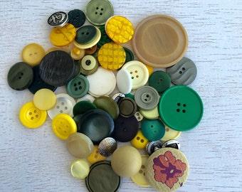 65 Vintage Button Lots - Dark Brown,Black and Gold Set Lot #50