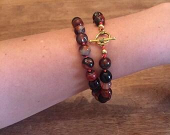 Gemstone Wrap Beaded Bracelet