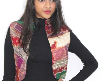 Vintage Indian Silk Handmade Jacket/Multicolor jacket / Vintage Jacket