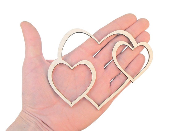 Wooden Hearts Cut Out Shape Art Projects Craft Decoration