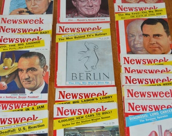 Vintage Newsweek Magazines 21 issue lot from 1959/1960