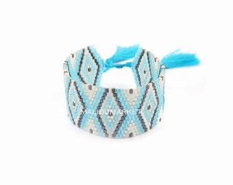 Japanese Pearl blue Cuff Bracelet