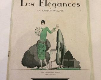 Les Elegance April 1925 Deco Magazine French Vintage Fashion Lucien Lelong