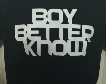 Boy Better Know signature shirt JME Skepta BBK Grime Hip Hop South London Black Custom S-XXL