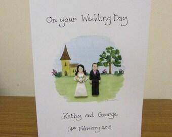 Personalised Wedding Card - Church