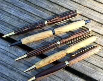 Hand Turned Pen // Hand Turned Pencils // Custom Made // Wood Turned Pens