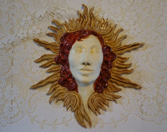 Sun - Clay Sculpture Wall Hanging