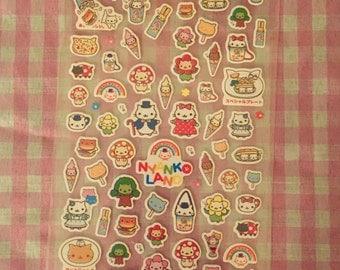 San-X Nyan Nyanko Stickers rare kawaii