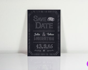 Save the date postcards (chalkboard)