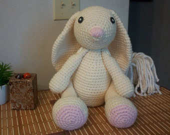 Big Bunny - Stuffed Plush Rabbit - Adjustable Limbs