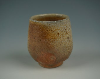 Yunomi - Tea Cup - Anagama Wood Fired - Raw Ash Glaze