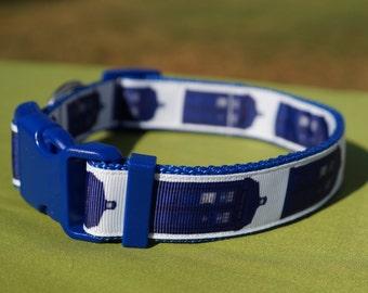 Dr Who Tardis/ Large dog collar