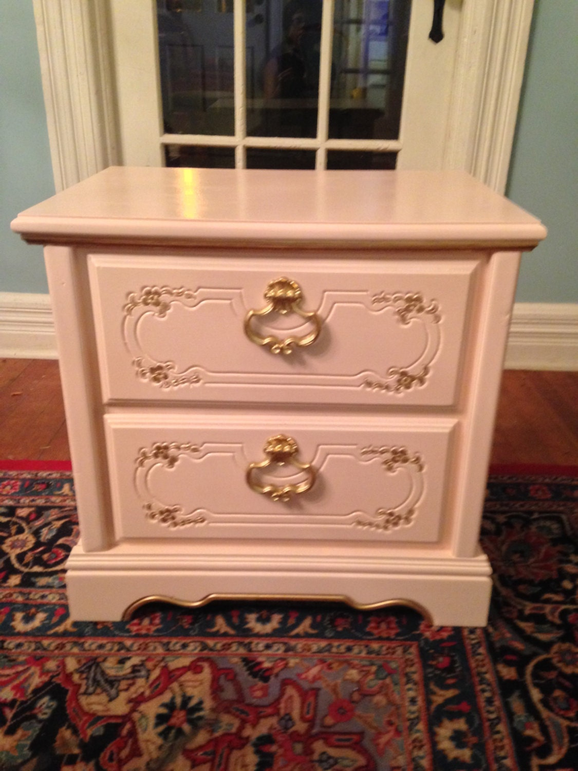 Nightstand Table: French Provincial Nightstand Bedside Table Night Stand
