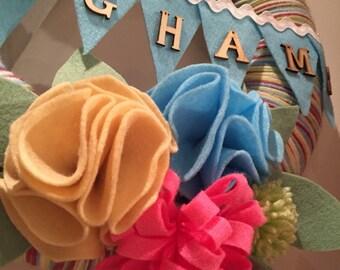Personlised hanging wreath