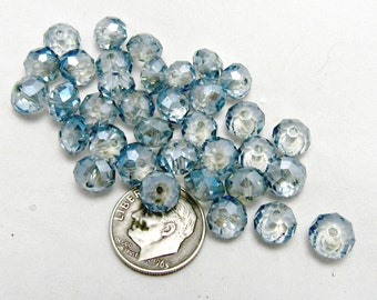 1 Strand  Tiara Glass Crystal Rondelle Beads Faceted 8x5mm Ultramarine Blue (B76d10)