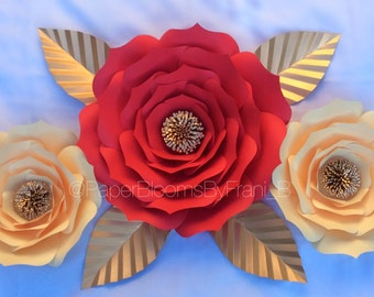 Paper flowers- Set of 3 - Style #6