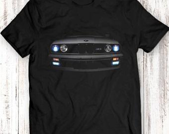 BMW E30 M3 T-Shirt Headlights Glow 3 Series Horse Power