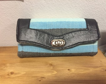 Girasol Sebastian wrap scrap wallet clutch with faux leather