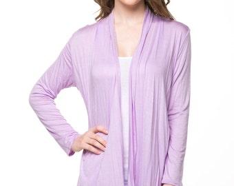 Lavender Open Cardigan