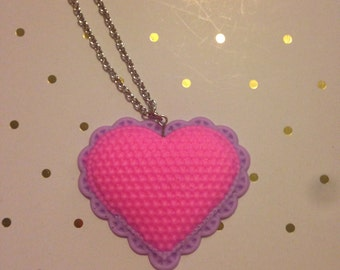 Quilted Heart Pendant