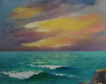 acrylic paint art landscape. oil painted, art and collectibles, seascape painting, landscape sunset, 100 acrylic paint .