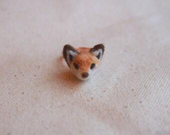 Sea Made - Animal Series: Wool Felted Fox Ring