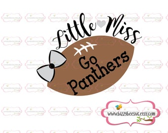 Little miss Go Panthers SVG, DXF, EPS cut file girls svg football svg cut file baby svg  sayings svg Go Panthers cut file