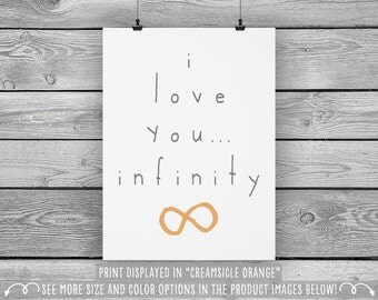 I Love You … Infinity - Children's Wall Art Print - Available in more sizes, colors, and sets!