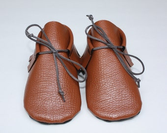 Boot moccasin- Toddler moccasin- Baby moccasin- Low ankle boot