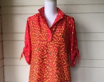 Vintage tulip print blouse