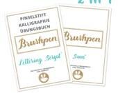 PDF Übungsbuch für BrushPen Kalligraphie BrushLettering HandLettering