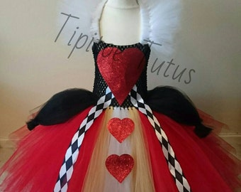 Queen of hearts inspired tutu style dress