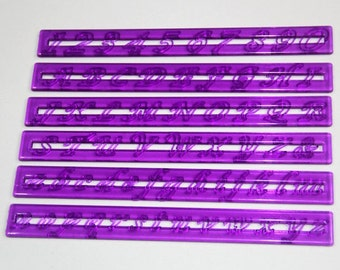 Alphabet Fondant Gum Paste Cake Script Tappit Cutters Upper + Lower Case Letters & Numbers Set