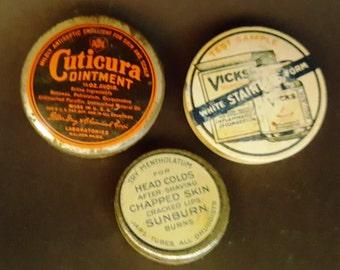 Vintage Medical Tins