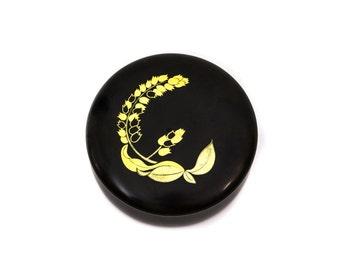 Zohiko Kyoto Lacquer and Gold Round Box