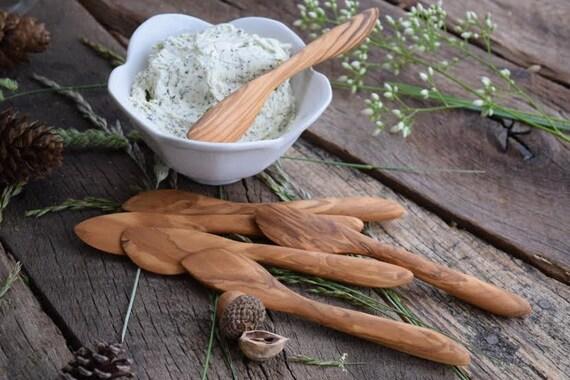 SPREADER   Handmade Wooden Spreader, Butter Knife, Olive Wood