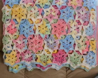 Star LIght, Star Bright afghan (baby/child, or adult lap throw)