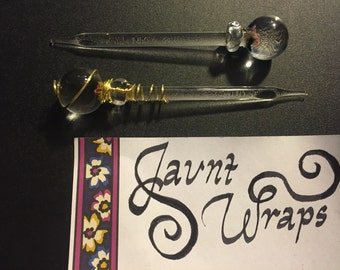 FREE SHIPPING Wire Wrapped Handblown Dabber