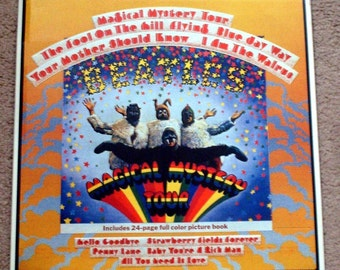 Beatles Magical Mystery Tour 12x12 Collectible Tin Sign