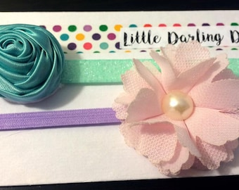 Set of two headbands, sized for baby