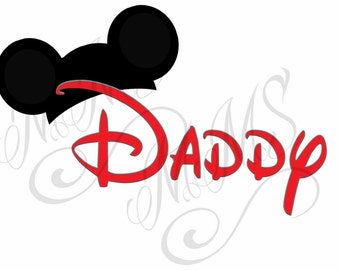 Daddy Mickey Family Shirt DIY Mickey Mouse Head Disney Family Download Iron On Craft Digital Disney Cruise Line Magnet Shirts