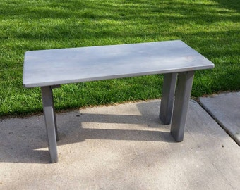 Handmade Solid Wood Grey scale Coffee Table