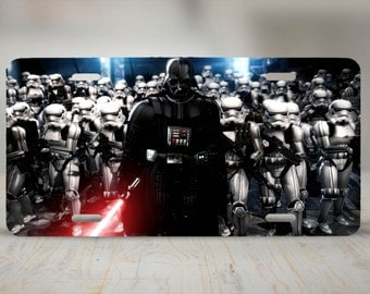 Darth Vader & Stormtroopers Aluminum License Plate