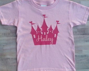 Personalized Princess Shirt, Personalized Princess Tee, Custom Princess Shirt, Custom Princess Tee, Pink Princess Shirt,
